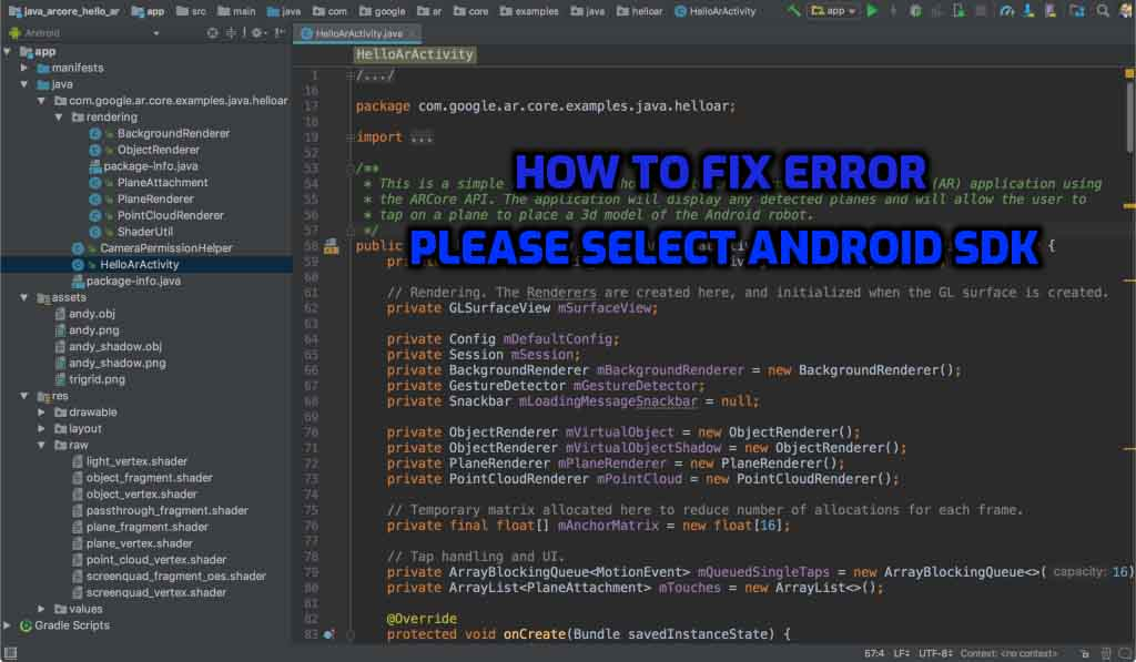How to Fix Error Please Select Android SDK