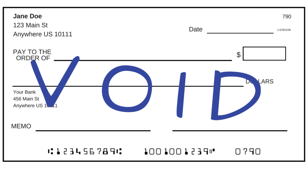 How to Void a Check2