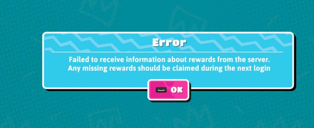 Fall Guys failed to receive information about rewards error