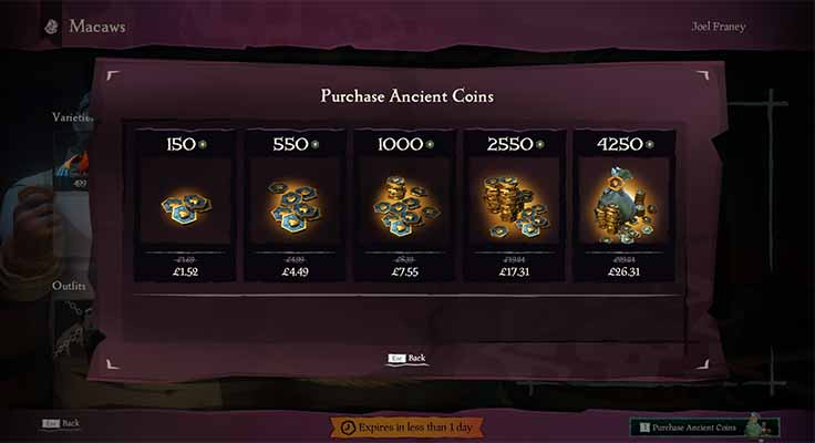 Purchase the coins with real money