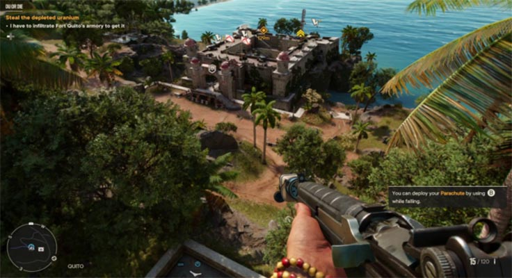Far Cry- how to complete cache on the Coast-2
